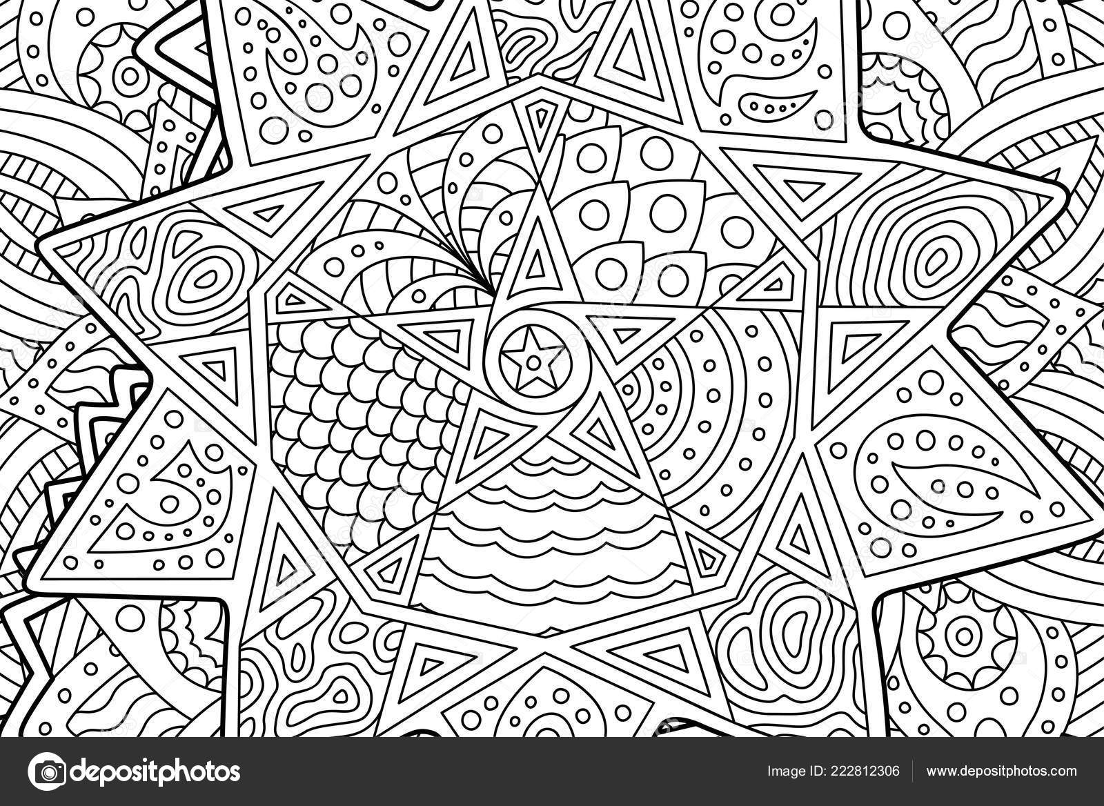 depositphotos stock illustration coloring book page with abstract