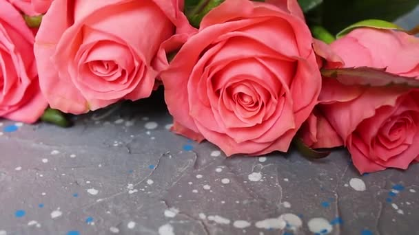 Rose flower background. Roses flower texture. Wedding bouquet of flowers.