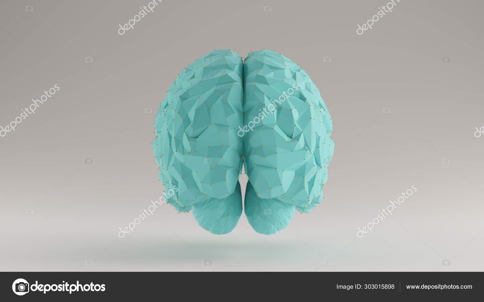 Brain Gulf Blue Turquoise Orange Futuristic Artificial