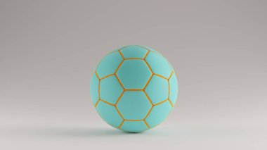 Gulf Blue Turquoise and Orange Football 3d