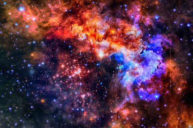 Colorful galaxy in outer space. Elements of this image furnished by NASA.