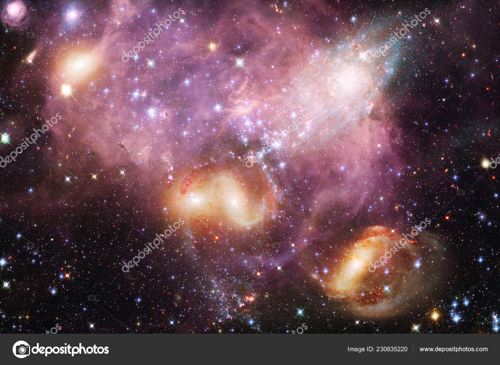 Nebula Outer Space Image Suitable Wallpaper Elements Image Furnished Nasa — Stock Photo