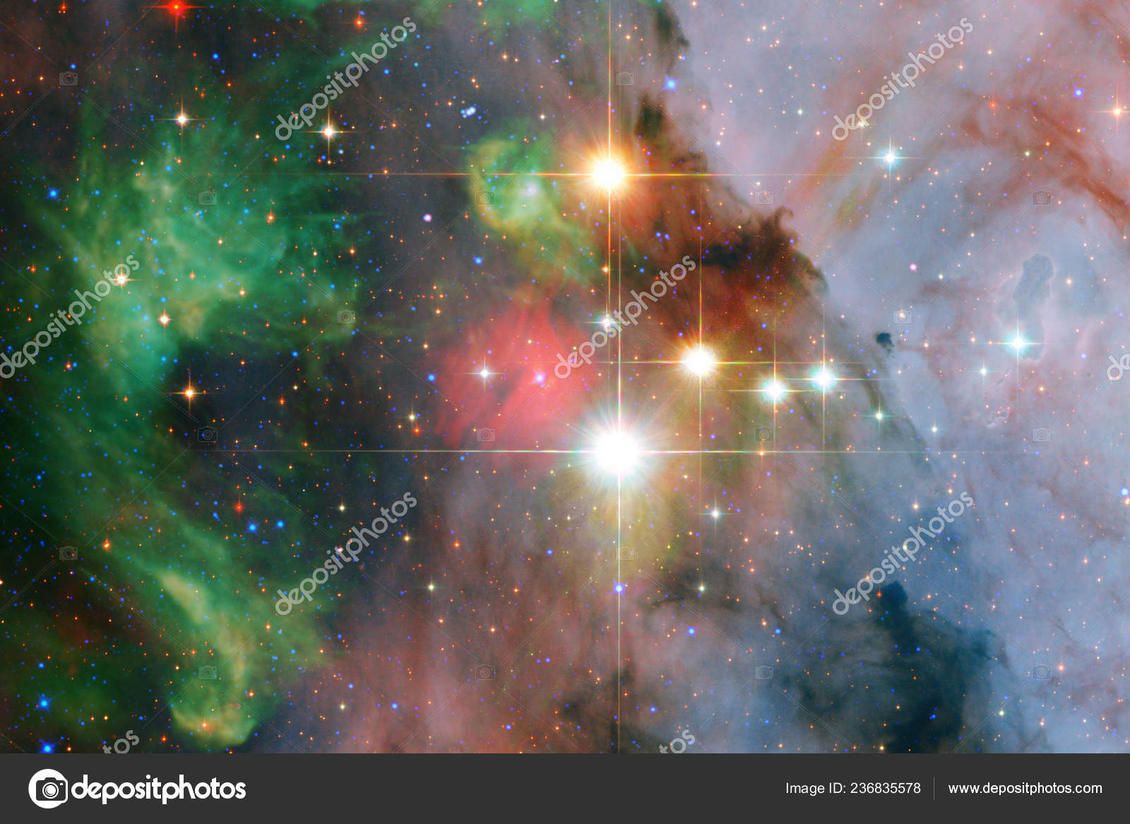 depositphotos 236835578 stock photo incredibly beautiful galaxy somewhere deep