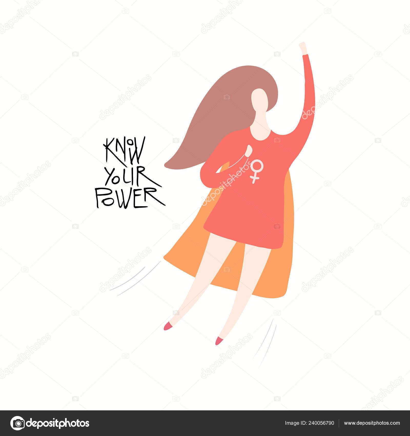 Illustration Vecteur Dessiné Super Héros Femme Heureuse