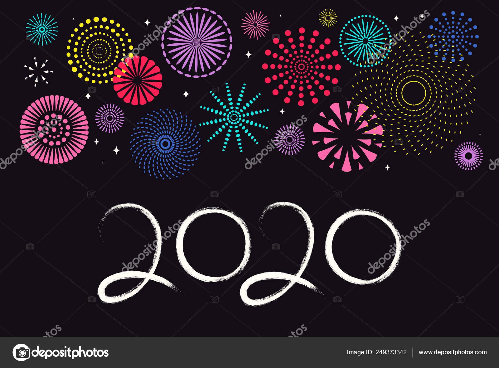 Carte De Lasie 2020.Carte Voeux Nouvel Chinois 2020 Avec Feux Artifice Des