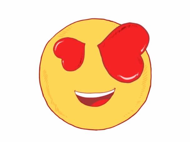 Skvělý pocit v lásce emotikonu - emoji, smajlíků