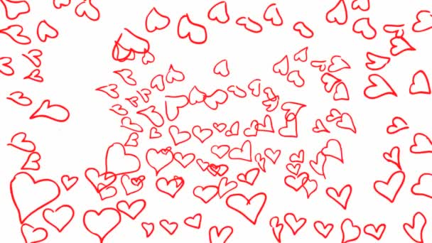 Many Red Heart in Shape of Big Heart on a white background
