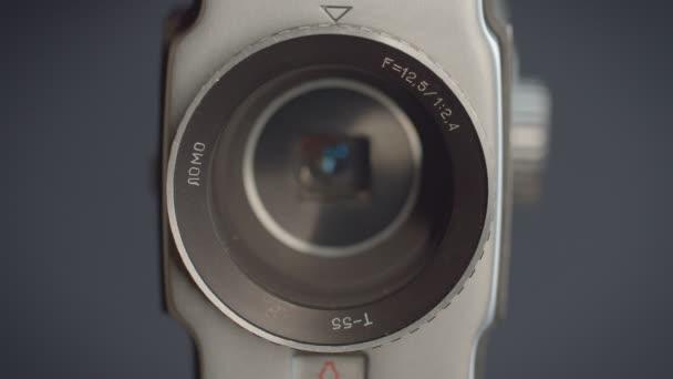 Podrobný záběr cíle videokamera a objektivu uvnitř.