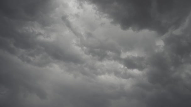 Gray storm clouds timelapse
