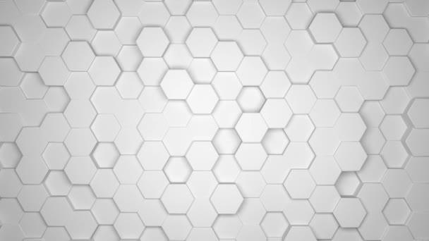 3D animace - Abstraktní šestihranné smyčkové pozadí