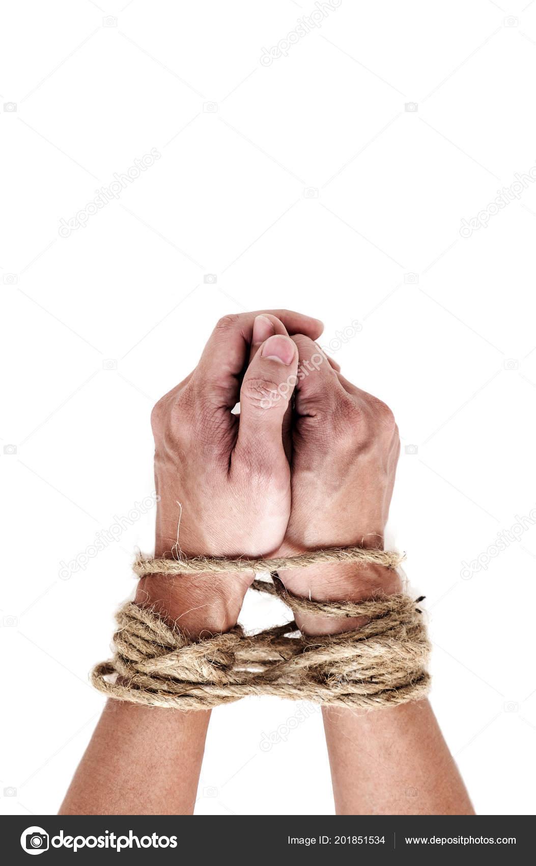 Tied male slave