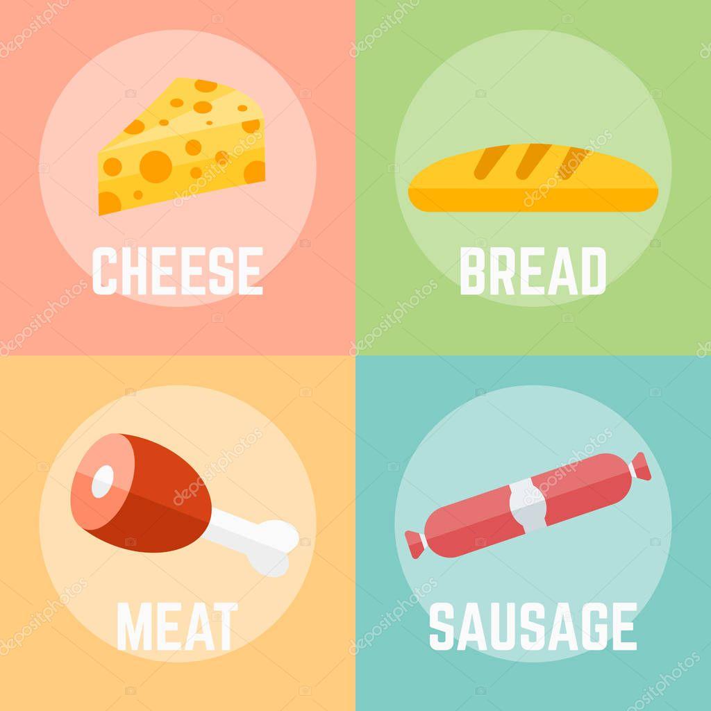 Food flat design vector illustration