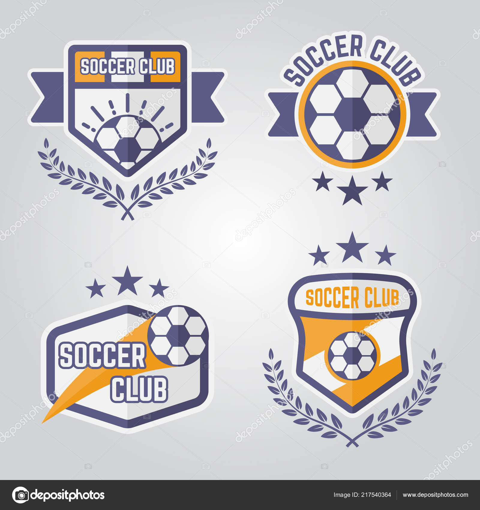 Soccer isolated vector emblems or logos part 3 — Stock