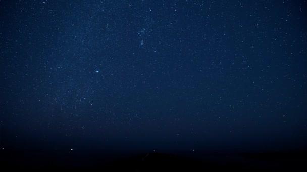 The starry sky in Time Lapse mode. Shooting meteorite stream Gemenida