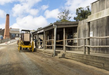 Sovereign Hill is an open air museum in Golden Point, a suburb of Ballarat, Victoria, Australia. Sovereign Hill depicts Ballarat's first ten years after the discovery of gold there in 1851.