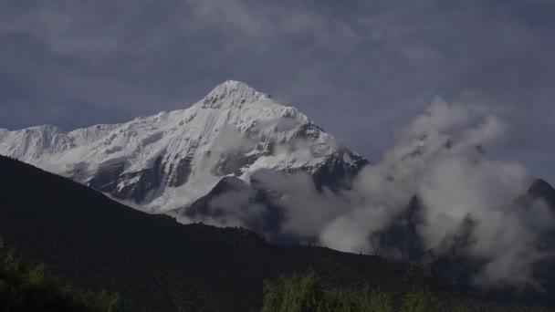 Himalaya mountains, Nepal. Peak of Annapurna. Timelapse