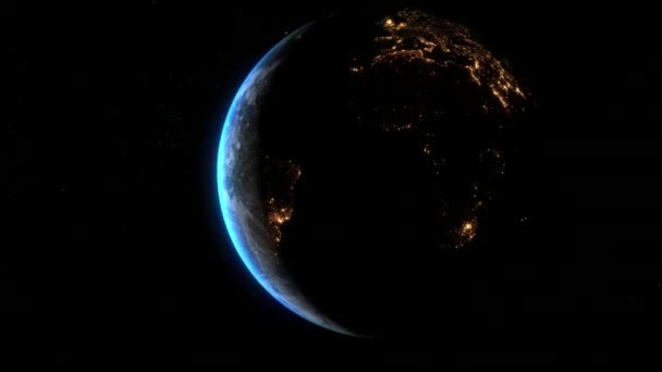 View of the Planet Earth From Space - Night to Day Camera RotationElements of this image furnished by NASA