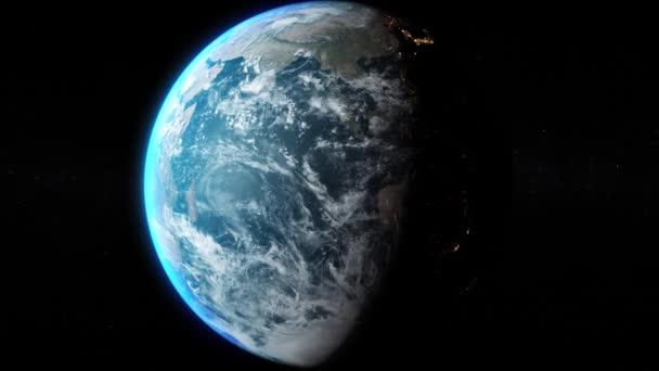 Blick auf den Planeten Erde aus dem Weltraum - zentriert und Zoom in Elemente des Bildes von der Nasa eingerichtet