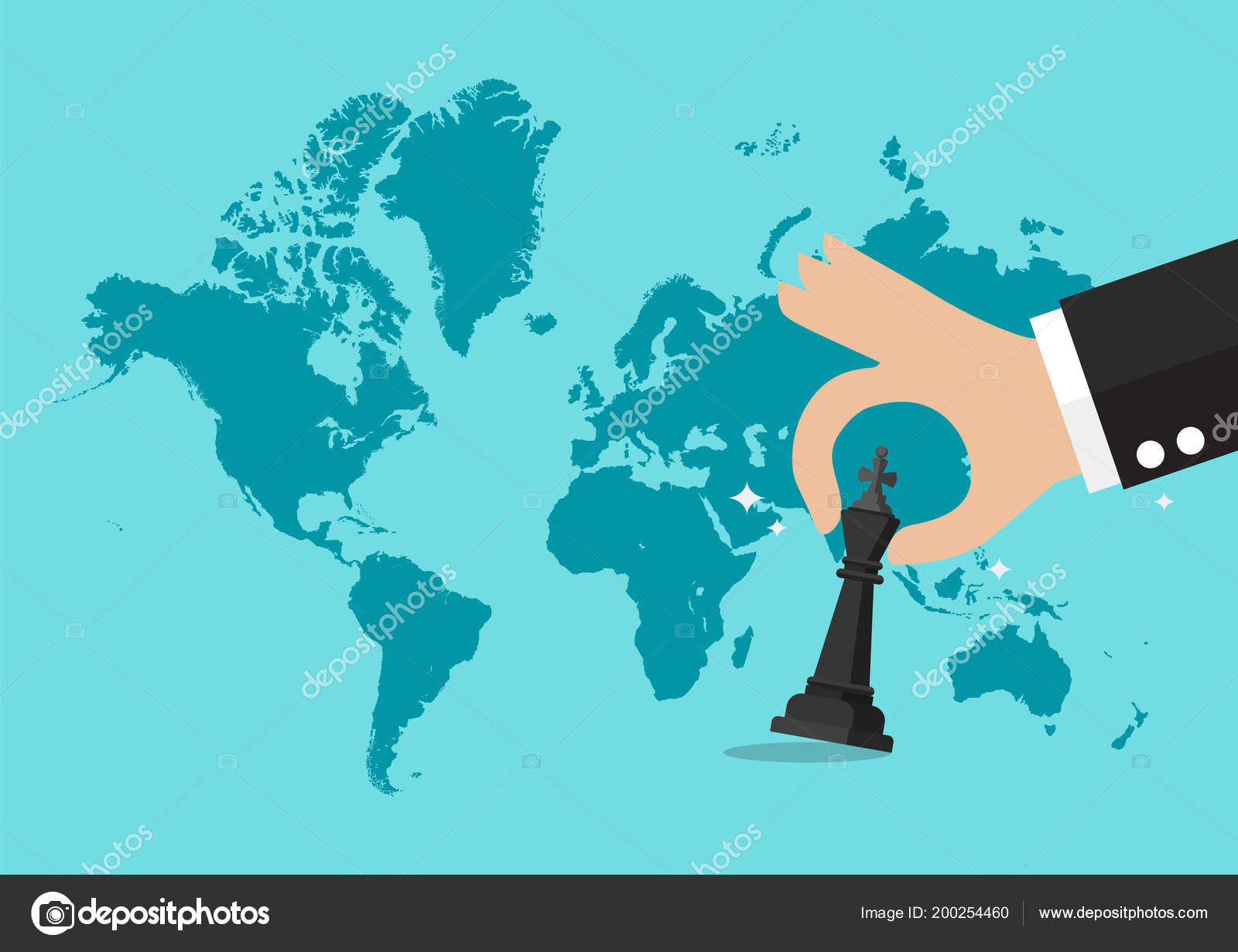Hand holding chess figure world map background business strategy hand holding chess figure world map background business strategy concept archivo imgenes vectoriales gumiabroncs