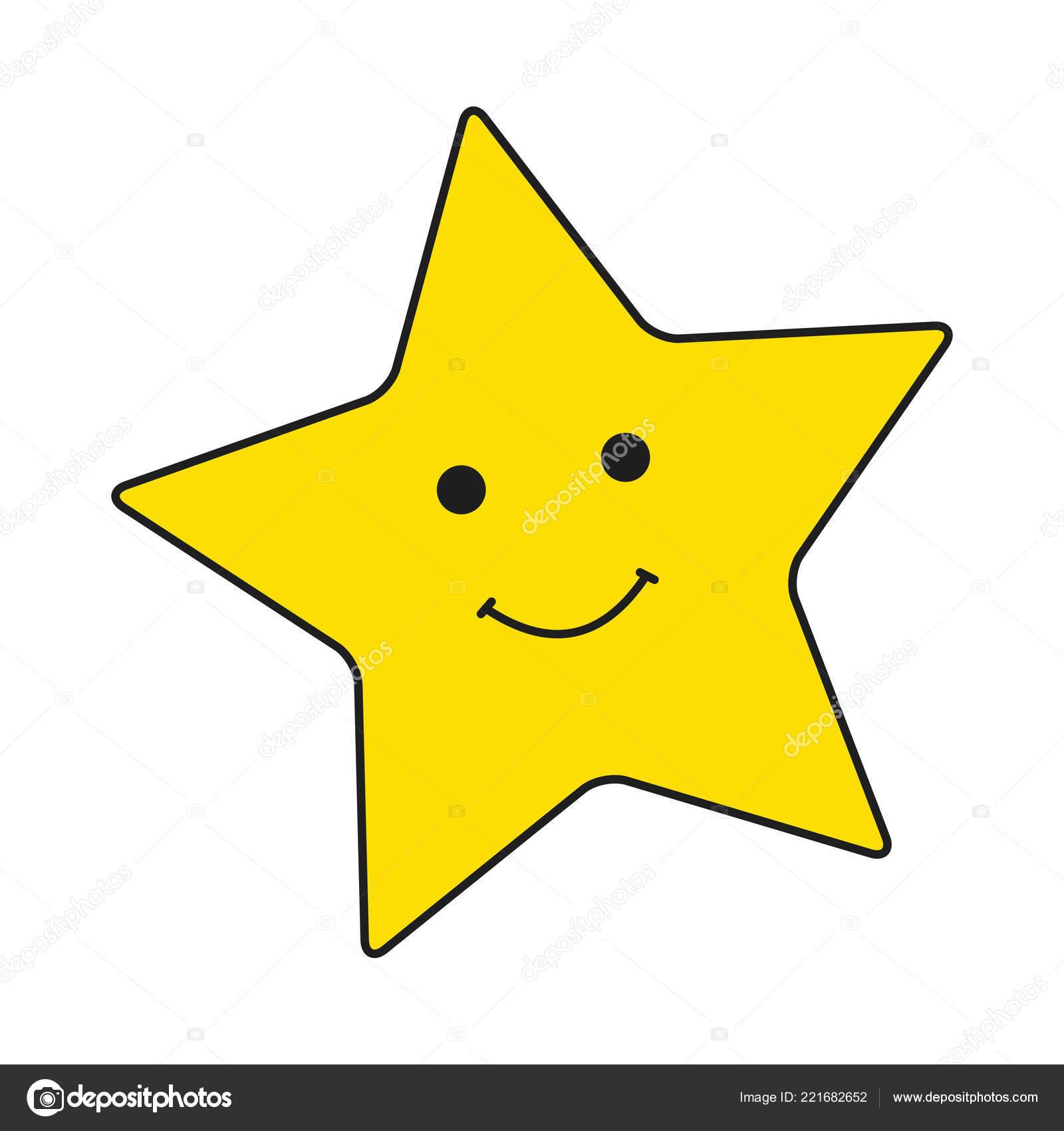 Estrellas Carita Sonriente Amarilla Grande Fondo Blanco