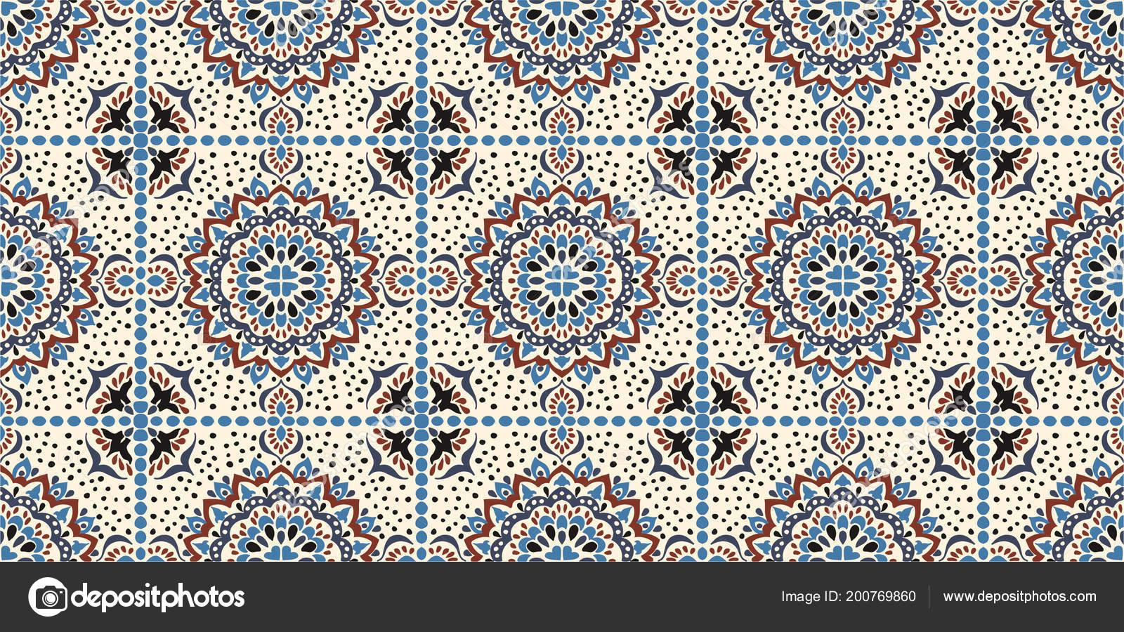 Modello di talavera. azulejos del portogallo. ornamento di turco