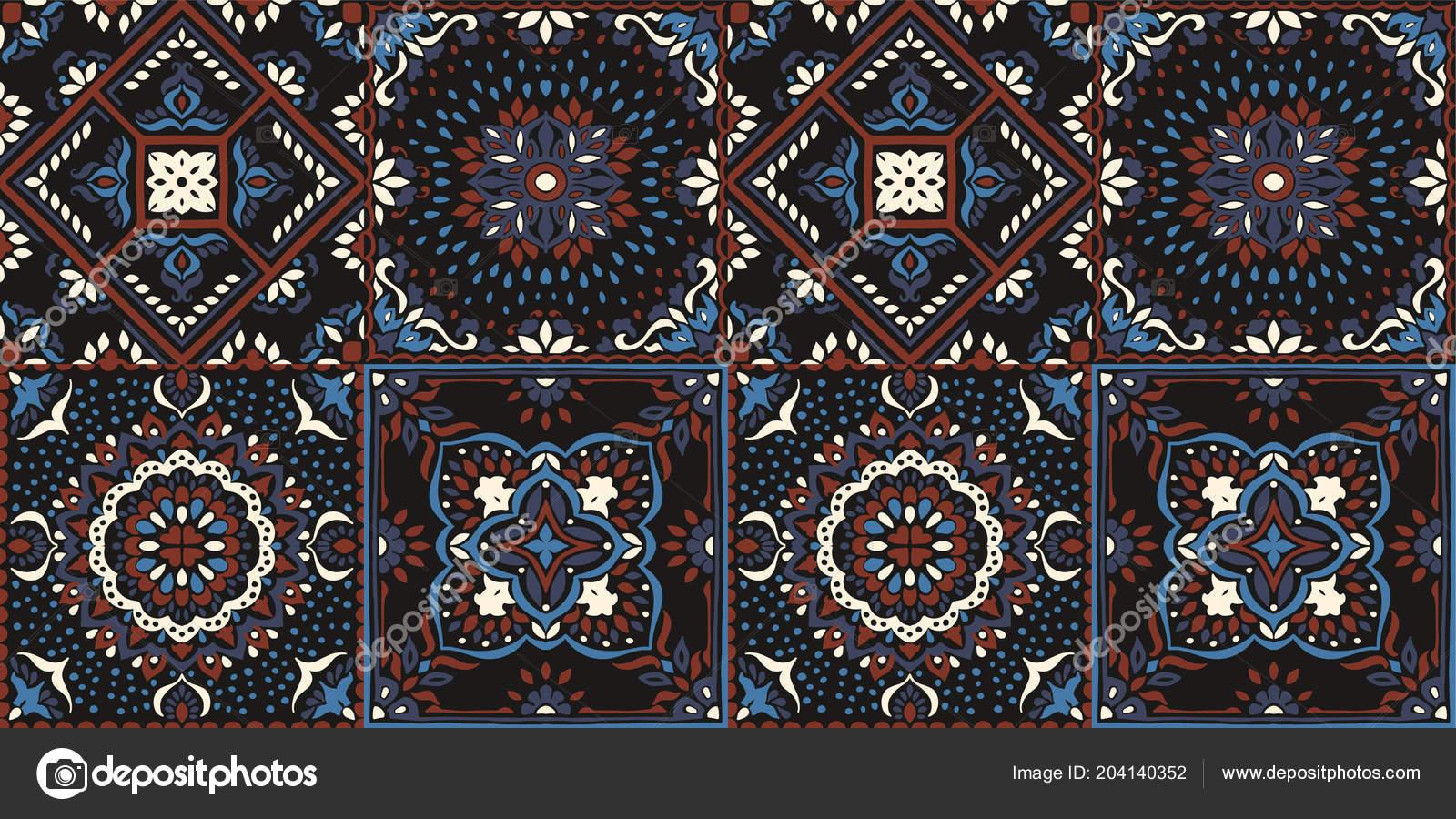 Modello talavera patchwork indiano azulejos del portogallo ornamento