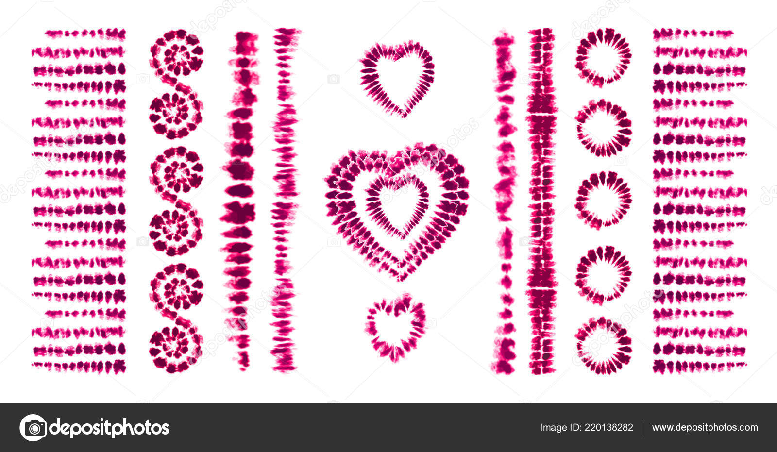 Red heart tie dye  Valentines day  Art brushes  Print in
