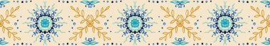 Seamless floral pattern. Stylized doodle flowers. Spanish ethnic embroidery.
