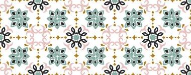Ethnic pattern. Mediterranean seamless wallpaper.
