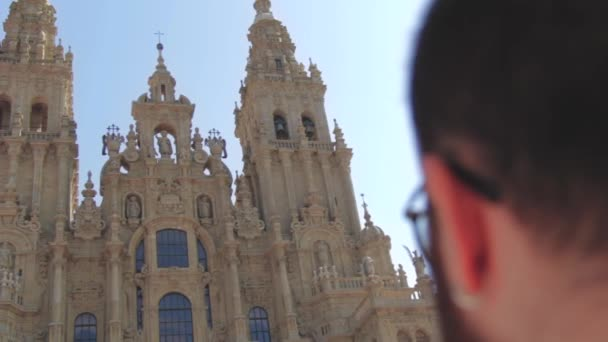 CATHEDRAL OF SANTIAGO DE COMPOSTELA WITH A HEAD OF A MAN