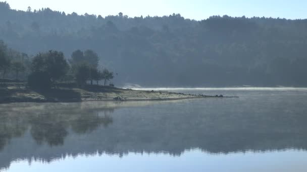 LANDSCAPE OF A LAKE IN THE MORNING