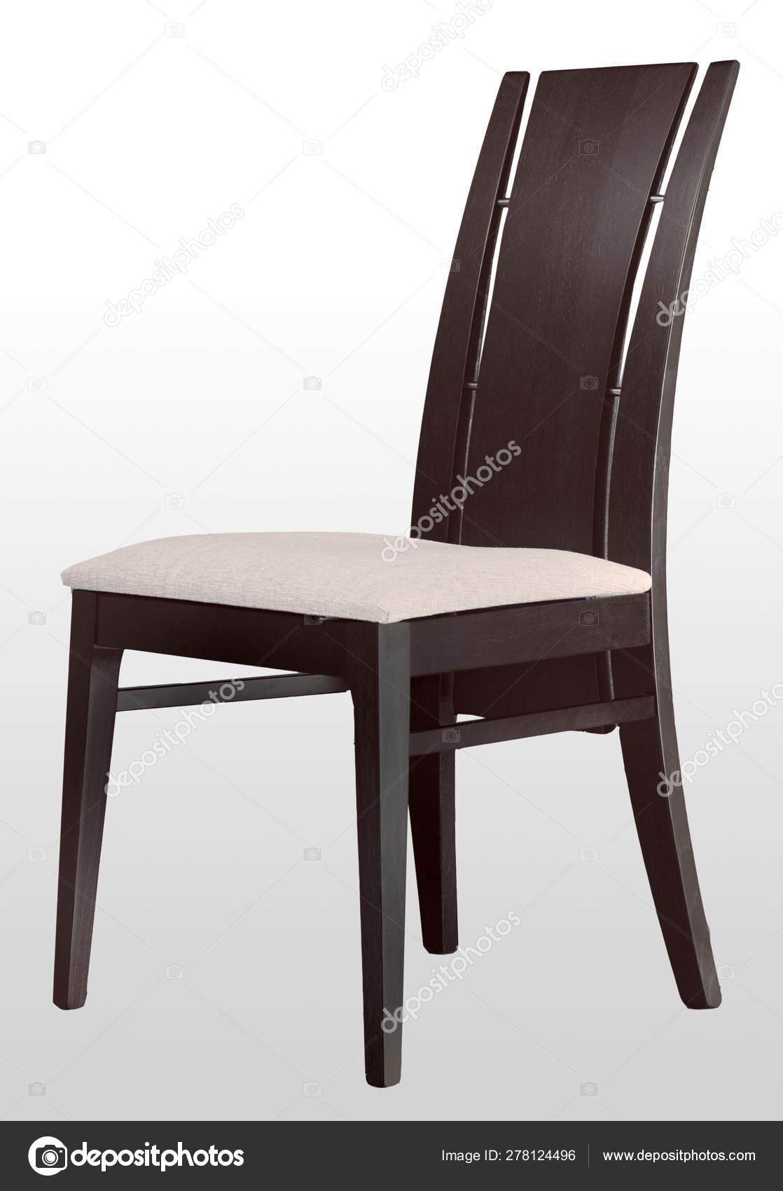 Silla Comedor Madera Aislada Diseño Muebles — Foto de stock ...
