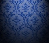 floral wallpaper in baroque style