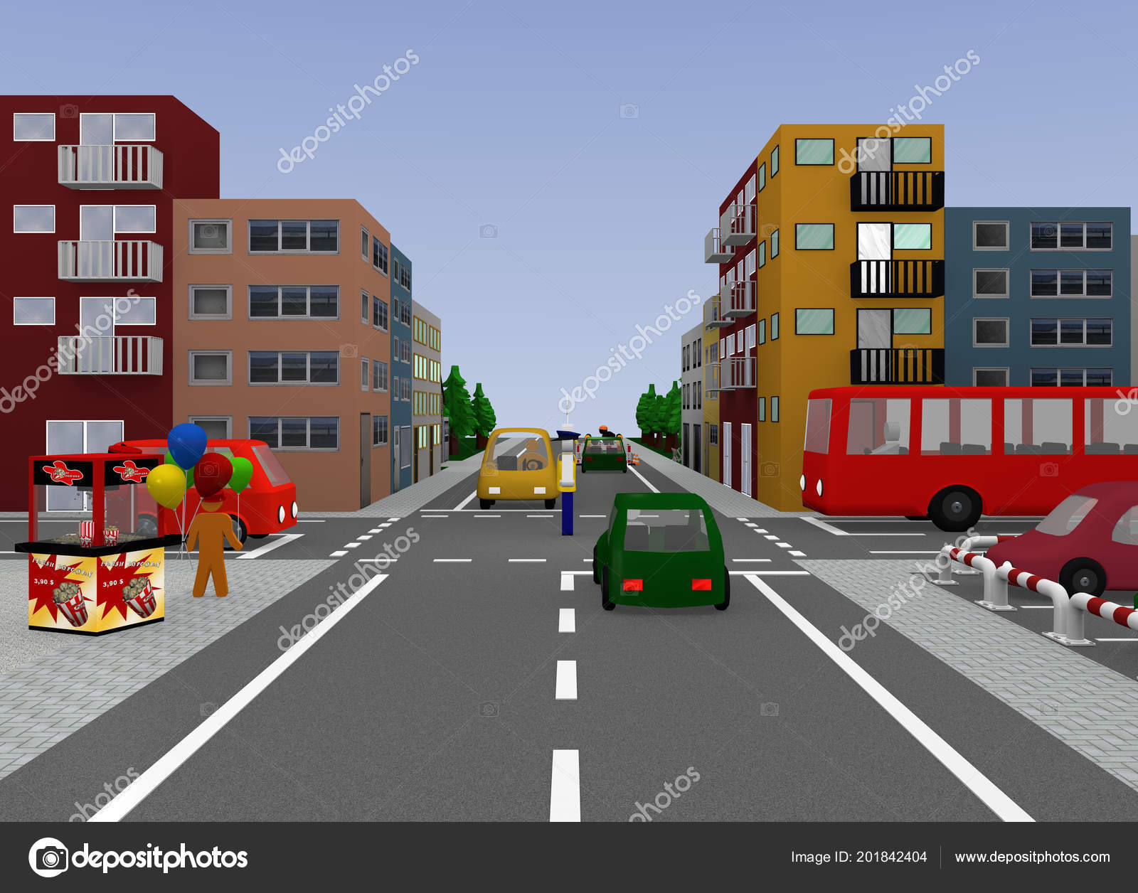 City View Traffic Situation Traffic Control Police Officer Free