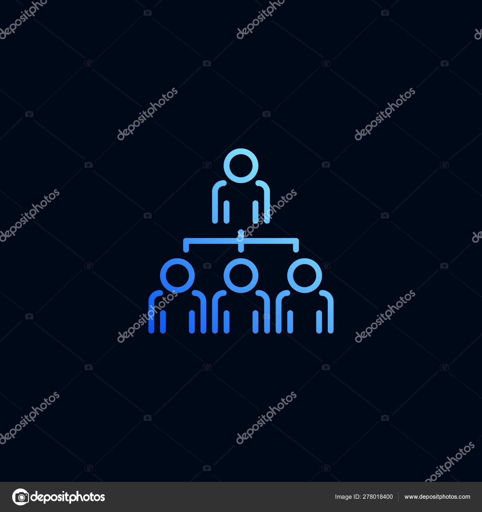 Organigrama Icono De Línea De Estructura De La Empresa