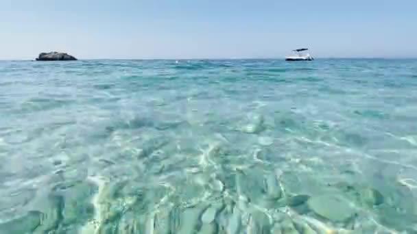 Albania Livadh beach Ionian Sea transparent water sea bottom
