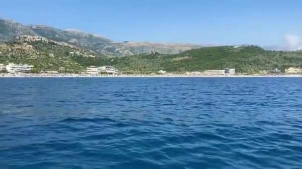 Albania seascape tranquil view to Livadh bay Ionian sea