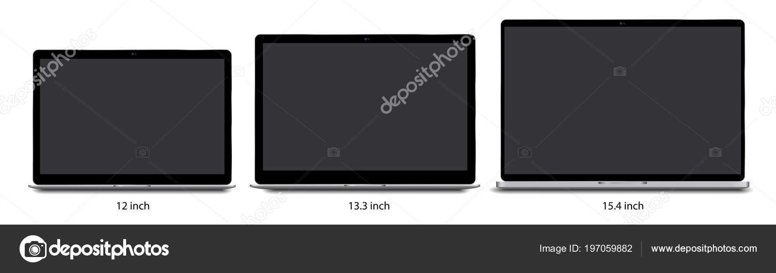 Plantilla de Laptop Notebook — Archivo Imágenes Vectoriales ...