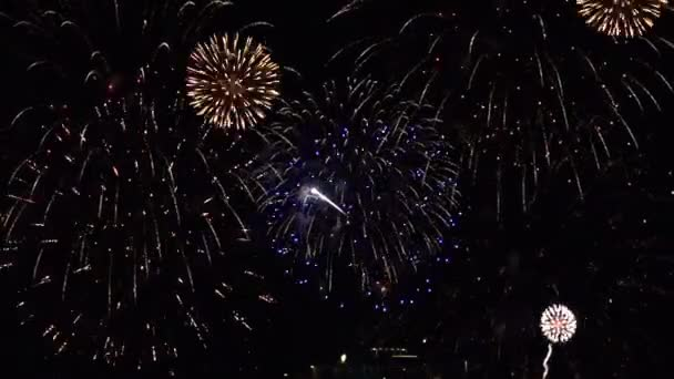Grand finale of a fireworks show