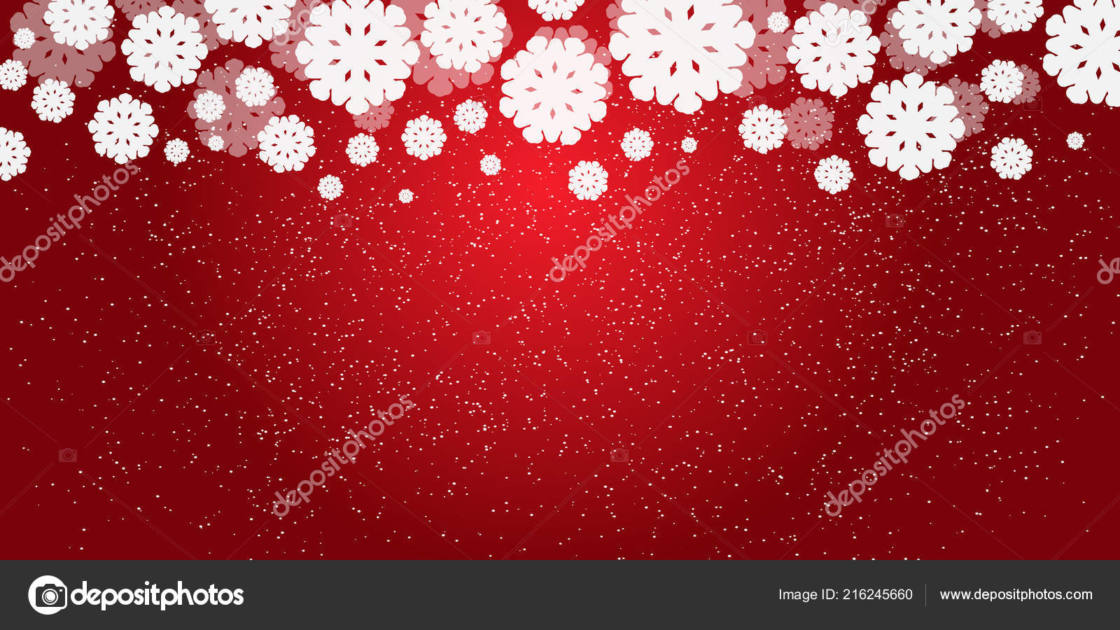 red new year christmas background white snowflakes snowfall christmas design stock vector