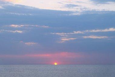 Sea or ocean sunrise.