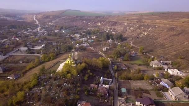 Fotoaparát letu nad malé vesnice