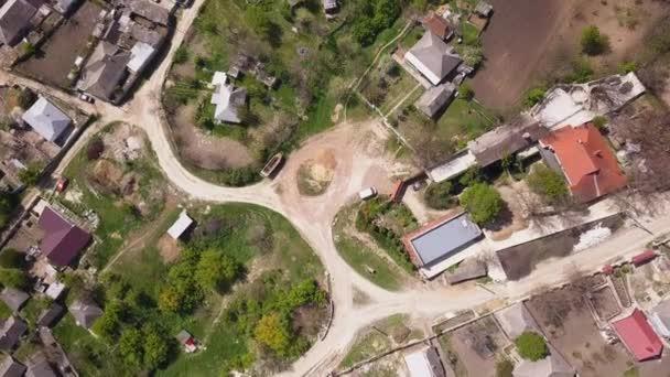 Malá Evropská vesnice. Letí přes cmall. Pohled shora.