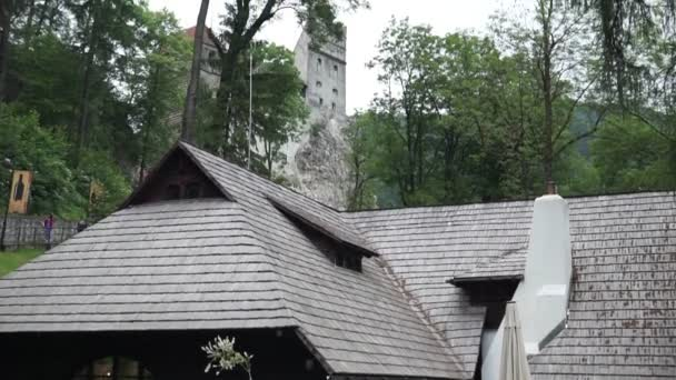 Bran, Dracula Castle: Transylvania land, Bran Castle, Dracula Legend. Summer view in a sunny day
