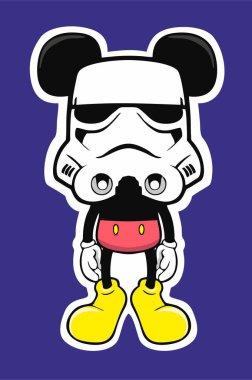 stormtrooper mouse humor vector