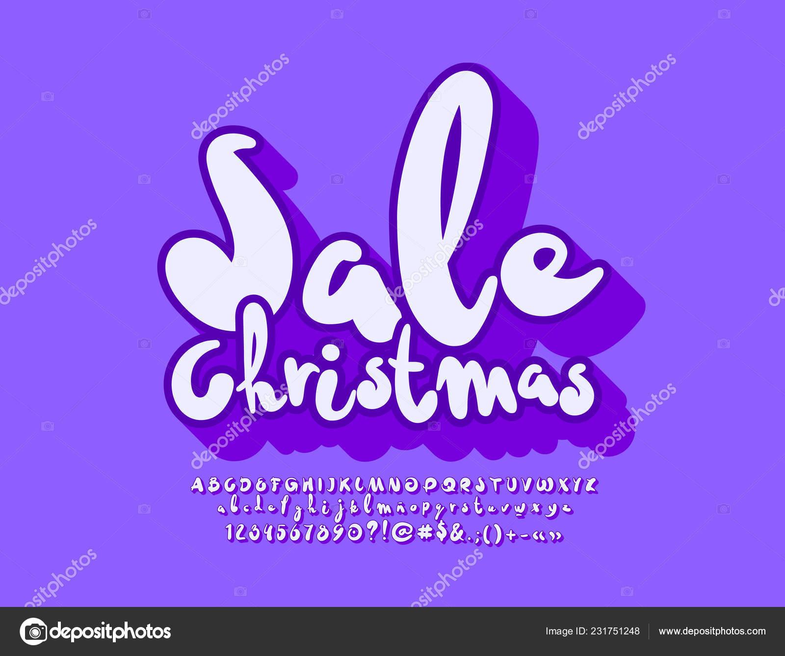 Vector Brillante Navidad Venta Emblema Juego Divertidos Hechos Mano