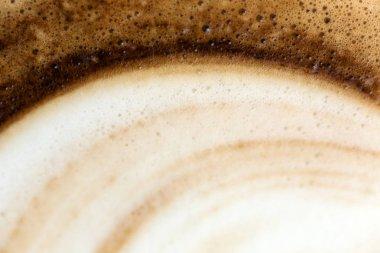 Abstract Coffee foam closeup