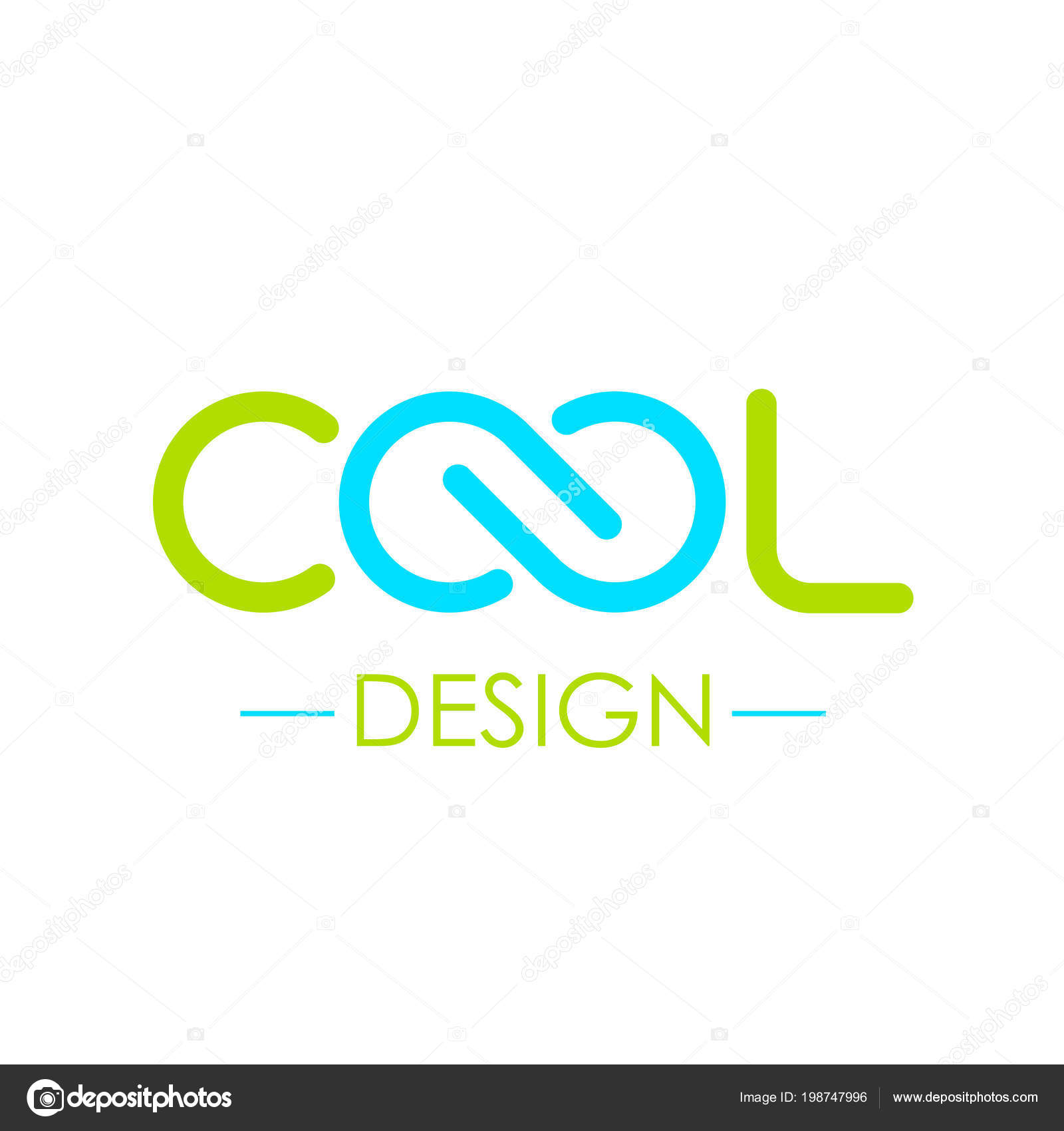 Cool Word Logo Infinity Symbol Illustration Isolated White