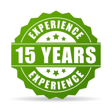 15 years experience vector icon illustration isolated on white background