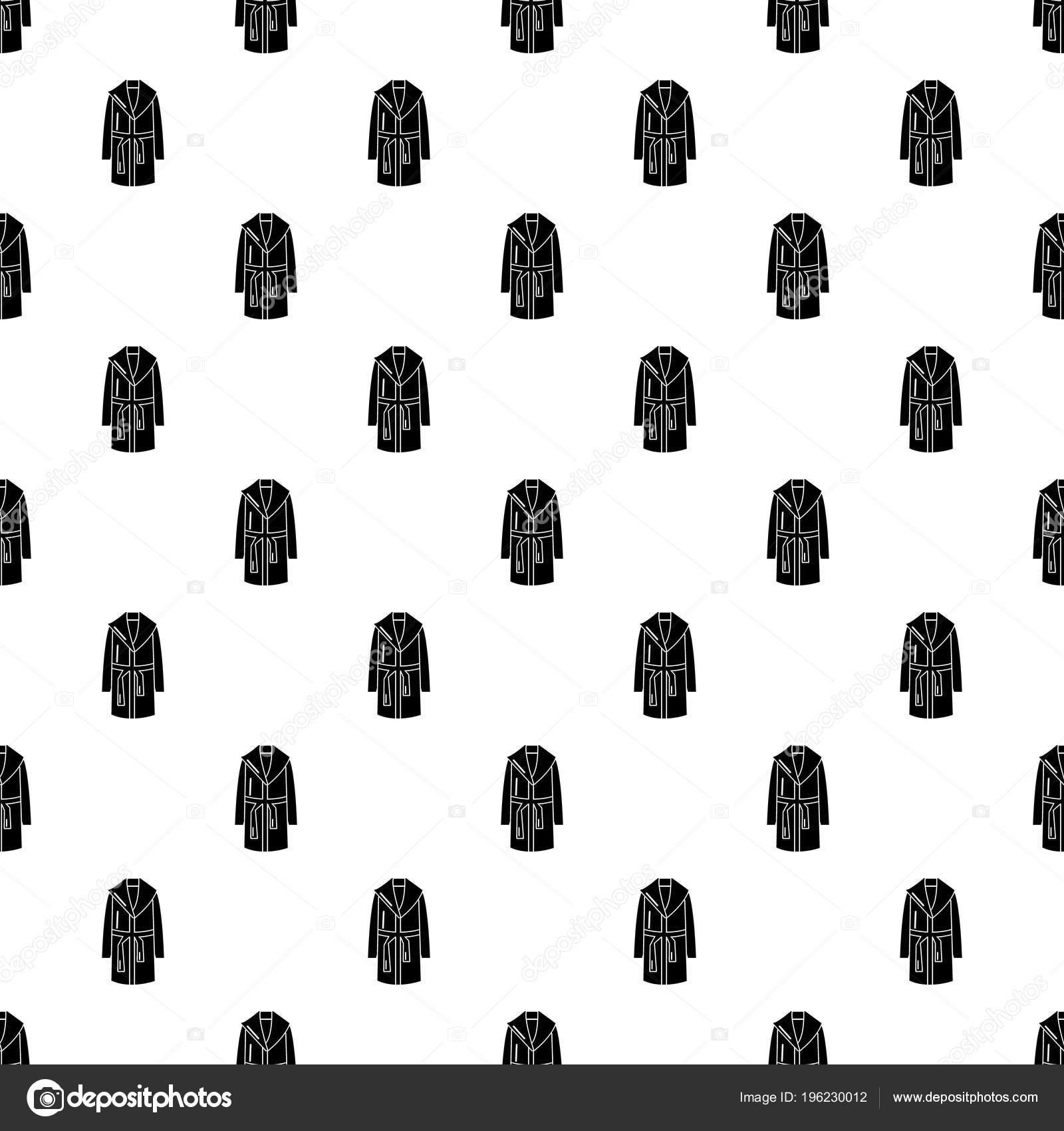 Vector patrón de bata de baño transparente — Vector de stock ...